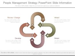 People Management Strategy Powerpoint Slide Information