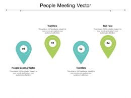 People Meeting Vector Ppt Powerpoint Presentation Professional Rules Cpb