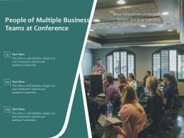 People Of Multiple Business Teams At Conference