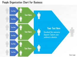 People Organization Chart For Business Flat Powerpoint Design