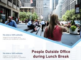 People Outside Office During Lunch Break