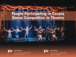 People Participating In Couple Dance Competition In Theatre