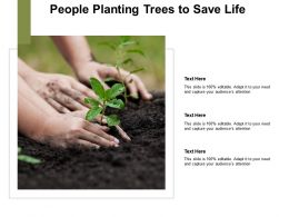 People Planting Trees For Save Life