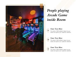 People Playing Arcade Game Inside Room