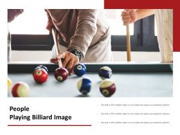 People Playing Billiard Image