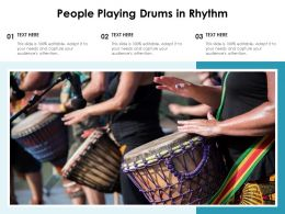 People Playing Drums In Rhythm