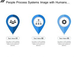 People Process Systems Image With Humans Hierarchy And Gear Image