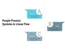 People Process Systems In Linear Flow