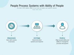 People Process Systems With Ability Of People
