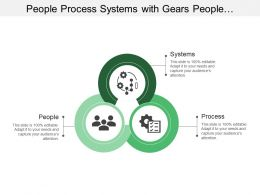 People Process Systems With Gears People And Ticks Image