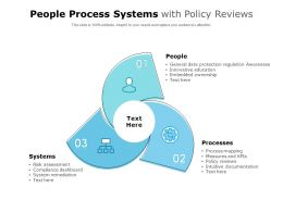 People Process Systems With Policy Reviews