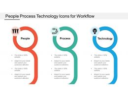 People Process Technology Icons For Workflow