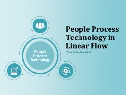 People Process Technology Icons In Linear Flow Technology Icons With Connected Arrows