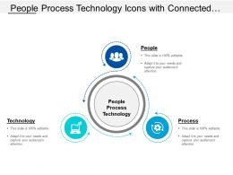 People Process Technology Icons With Connected Arrows