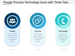 People Process Technology Icons With Three Text Holders