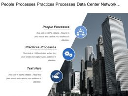People Processes Practices Processes Data Center Network Operations