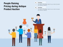 People Raising Pricing During Antique Product Auction