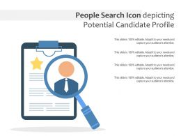 People Search Icon Depicting Potential Candidate Profile