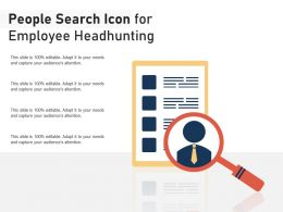 People Search Icon For Employee Headhunting