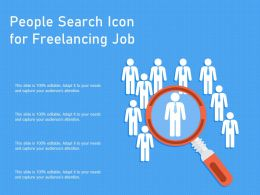 People Search Icon For Freelancing Job