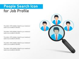 People Search Icon For Job Profile