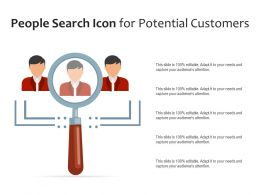 People Search Icon For Potential Customers