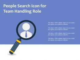 People Search Icon For Team Handling Role