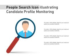 People Search Icon Illustrating Candidate Profile Monitoring
