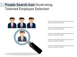 People Search Icon Illustrating Talented Employee Selection