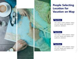 People Selecting Location For Vacation On Map