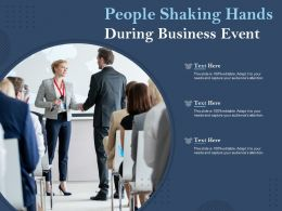 People Shaking Hands During Business Event