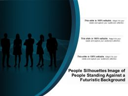 People Silhouettes Image Of People Standing Against A Futuristic Background