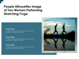 People Silhouettes Image Of Two Women Performing Stretching Yoga