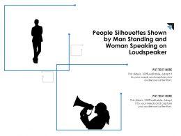 people_silhouettes_shown_by_man_standing_and_woman_speaking_on_loudspeaker_Slide01
