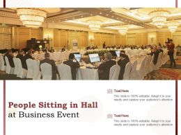 People Sitting In Hall At Business Event