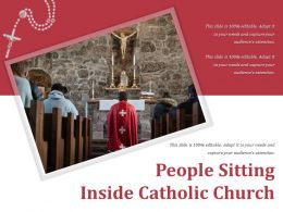 People Sitting Inside Catholic Church