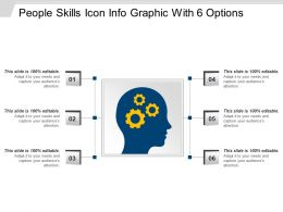 People Skills Icon Info Graphic With 6 Options