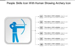 People Skills Icon With Human Showing Archery Icon