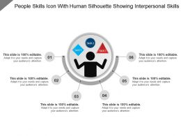 People Skills Icon With Human Silhouette Showing Interpersonal Skills