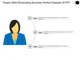People Skills Showcasing Business Worker Powerpoint Layout