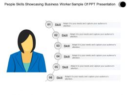 People Skills Showcasing Business Worker Powerpoint Presentation