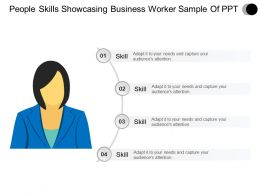 People Skills Showcasing Business Worker Sample Of Ppt