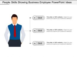 People Skills Showing Business Employee Powerpoint Ideas