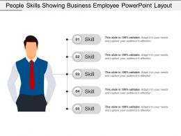 People Skills Showing Business Employee Powerpoint Layout