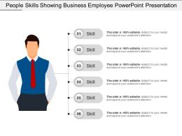 People Skills Showing Business Employee Powerpoint Presentation