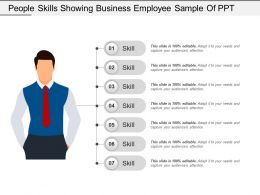 People Skills Showing Business Employee Sample Of Ppt