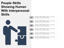 People Skills Showing Human With Interpersonal Skills