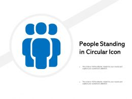 People Standing In Circular Icon