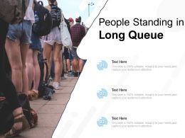 People Standing In Long Queue