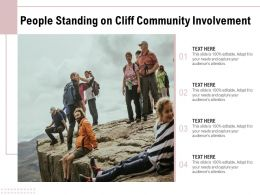 People Standing On Cliff Community Involvement